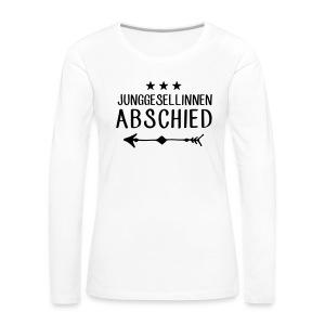 Junggesellinnen Abschied - JGA T-Shirt Team Braut - Frauen Premium Langarmshirt