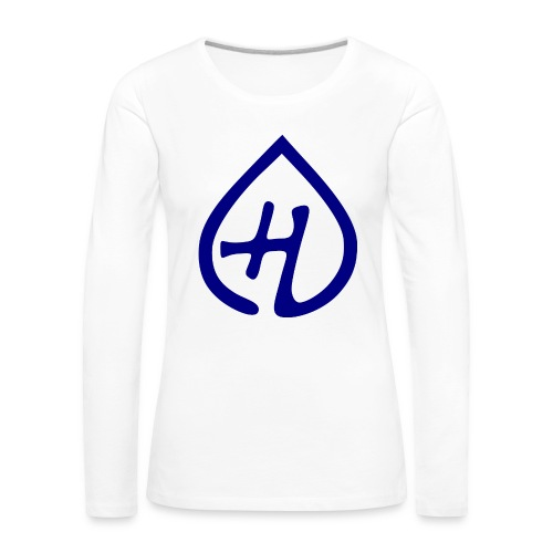 Hangprinter logo - Långärmad premium-T-shirt dam