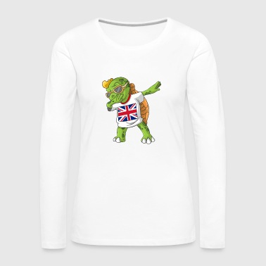United Kingdom Dabbing turtle - Women's Premium Longsleeve Shirt