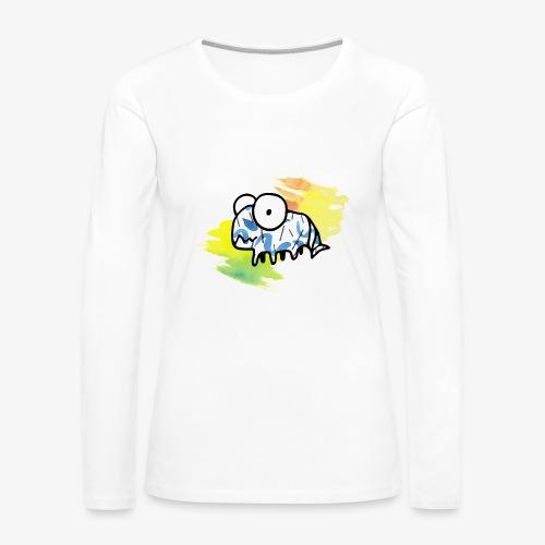 dziwny stworek akwarele - Koszulka damska Premium z długim rękawem