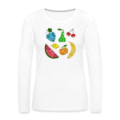 Obstsalat - Frauen Premium Langarmshirt