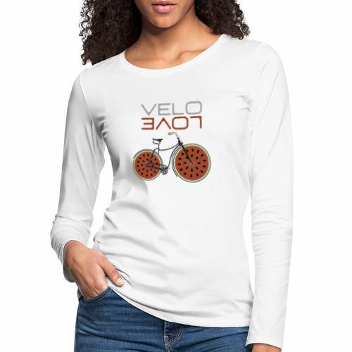 Melonen Bike Shirt Velo Love Shirt Radfahrer Shirt - Frauen Premium Langarmshirt