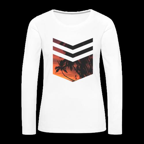 Palm Beach - Frauen Premium Langarmshirt