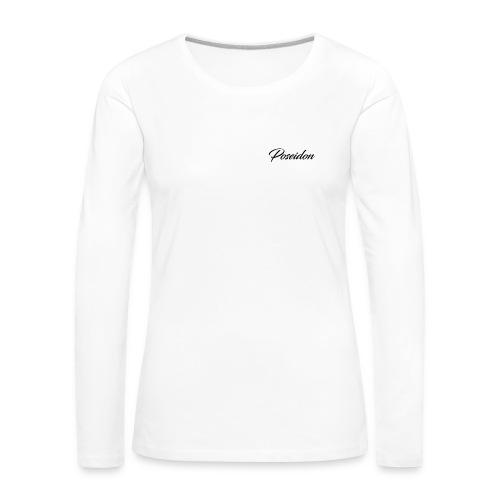 Poseidon Simple Logo - Women's Premium Longsleeve Shirt
