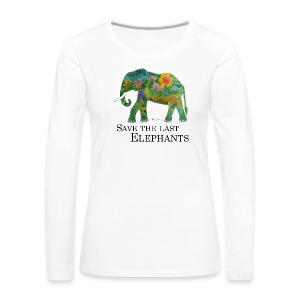 Save The Last Elephants - Frauen Premium Langarmshirt