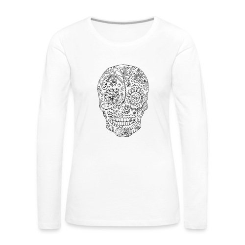 Sugar Skull - T-shirt manches longues Premium Femme