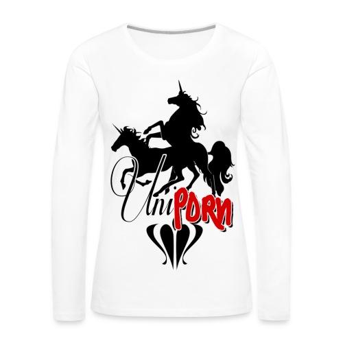 Uniporn - Frauen Premium Langarmshirt
