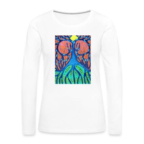 Drapiężne Drzewo - Koszulka damska Premium z długim rękawem