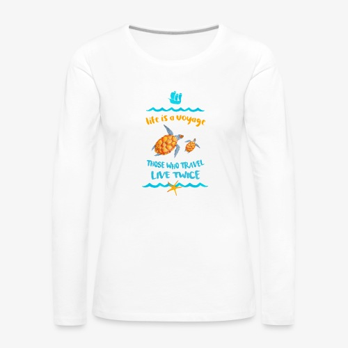 life is a travel - Koszulka damska Premium z długim rękawem
