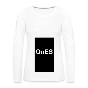 OnES Black - Frauen Premium Langarmshirt
