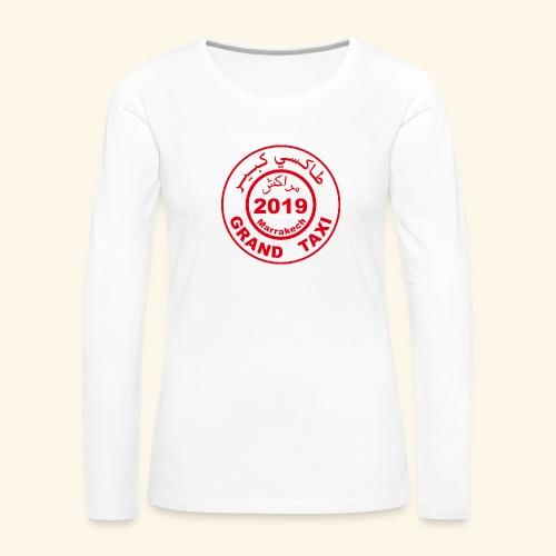 Logo du Grand Taxi de Marrakech 2019 - T-shirt manches longues Premium Femme