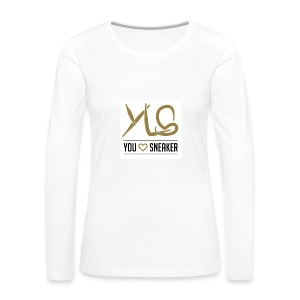 you love sneaker - Frauen Premium Langarmshirt