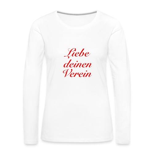 Verein - Frauen Premium Langarmshirt