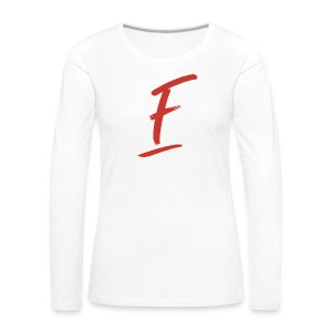 Radio Fugue F Rouge - T-shirt manches longues Premium Femme