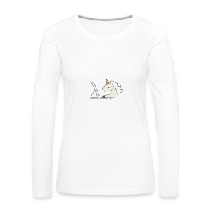 Unicorn Work - Women's Premium Longsleeve Shirt