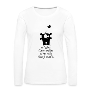 aMAziNg wOrLd*** - Frauen Premium Langarmshirt
