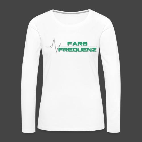 FarbFrequenz - Logo - Frauen Premium Langarmshirt