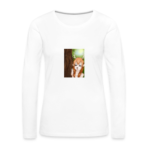 Sam sung s6:Deer-girl design by Tina Ditte - Women's Premium Longsleeve Shirt