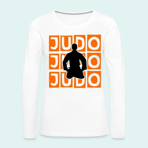 Motiv Judo Orange - Frauen Premium Langarmshirt
