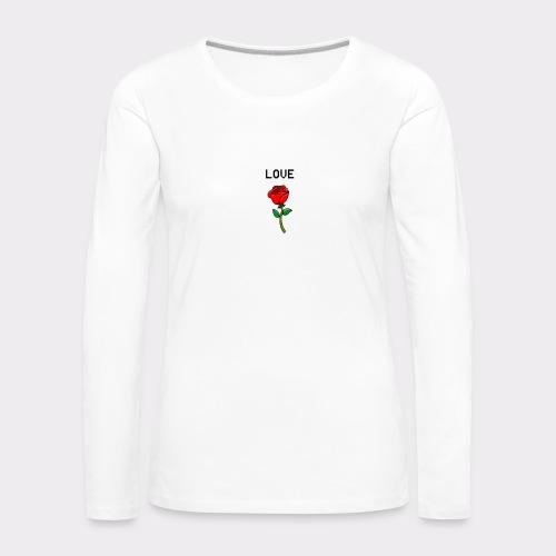 Love B. - Dame premium T-shirt med lange ærmer