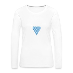 Diamanter i Diamanter - Dame premium T-shirt med lange ærmer