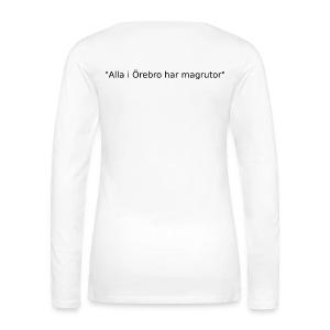 Ju jutsu kai förslag 2 version 1 svart text - Långärmad premium-T-shirt dam