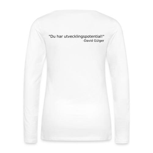 Ju jutsu kai förslag 1 version 1 svart text - Långärmad premium-T-shirt dam