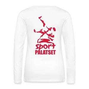 Motiv med röd logga - Långärmad premium-T-shirt dam