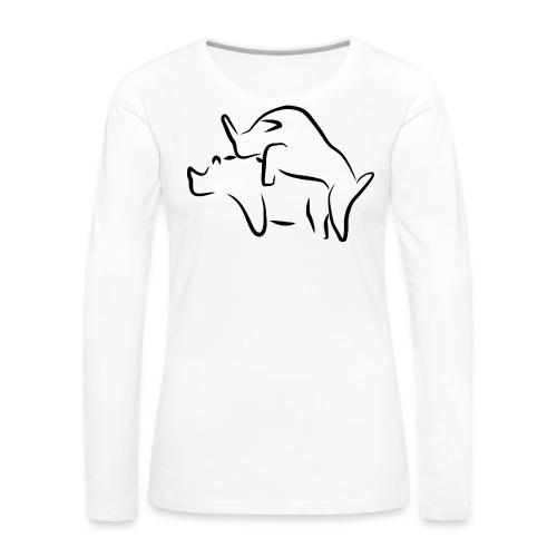 Tiere - Frauen Premium Langarmshirt