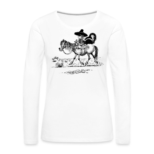 Thelwell 'Cowboy with a skunk' - Women's Premium Longsleeve Shirt