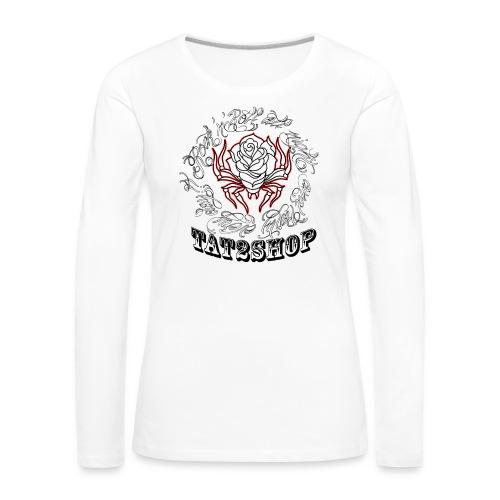 Tat2shop Pinstripe R R - Vrouwen Premium shirt met lange mouwen