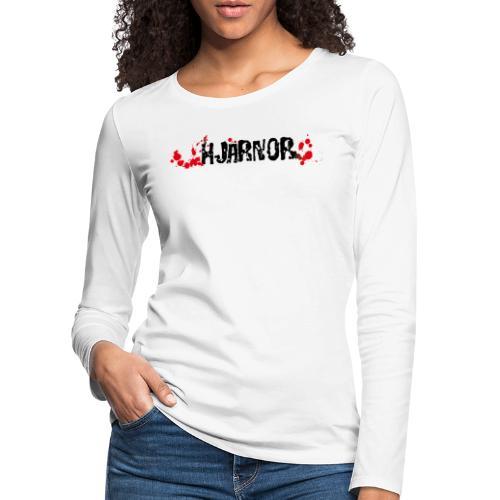 Hjärnor logo svart - Långärmad premium-T-shirt dam