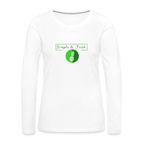 Simple et Fresh - T-shirt manches longues Premium Femme