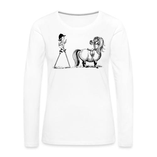 Thelwell - Penelope wirh stilts - Women's Premium Longsleeve Shirt