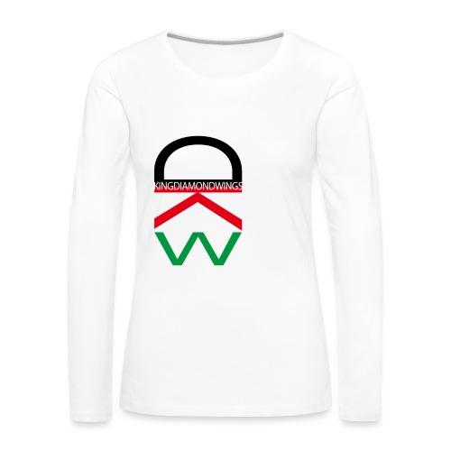 King Diamond Wings Colored Logo - Women's Premium Longsleeve Shirt