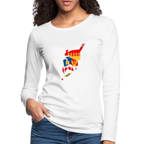 Åboland × Eva: Kimitoöns kommunvapen - Naisten premium pitkähihainen t-paita