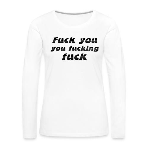 nadruk009 - Koszulka damska Premium z długim rękawem