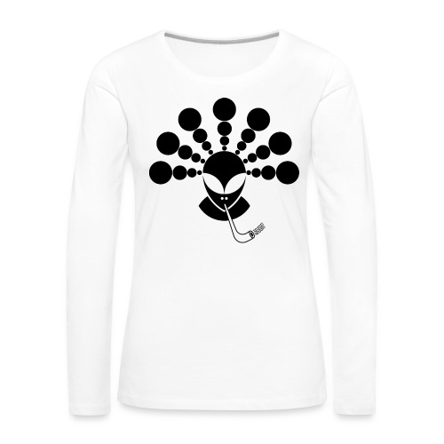 The Smoking Alien Black - Women's Premium Longsleeve Shirt