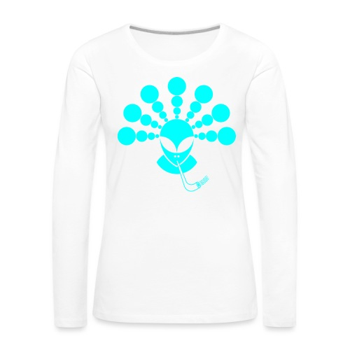 The Smoking Alien Light Blue - Women's Premium Longsleeve Shirt