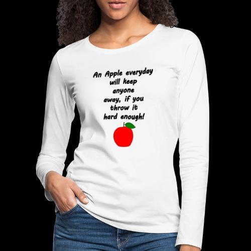 Apple Apfel Doctor Zitat Spruch Lustig - Frauen Premium Langarmshirt