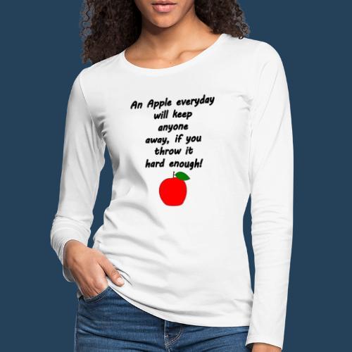 Apple Doctor - Frauen Premium Langarmshirt