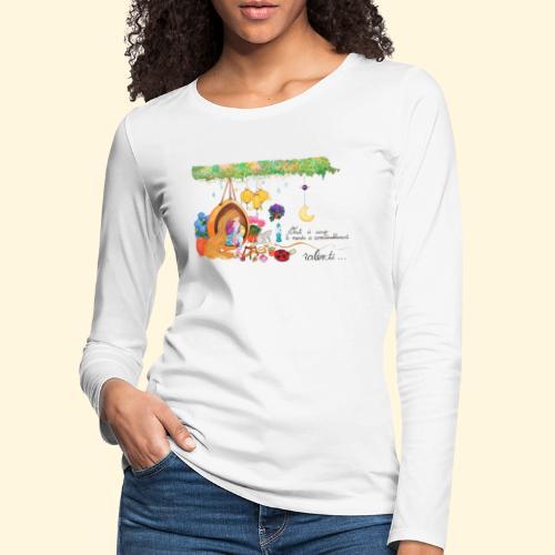 Tout à coup, le temps a considérablement ralenti - T-shirt manches longues Premium Femme