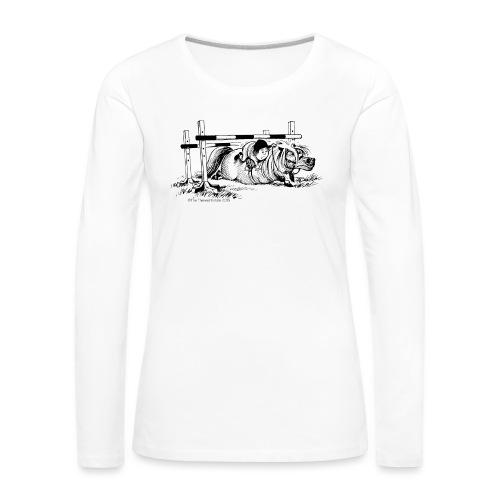PonyFall Thelwell Cartoon - Women's Premium Longsleeve Shirt