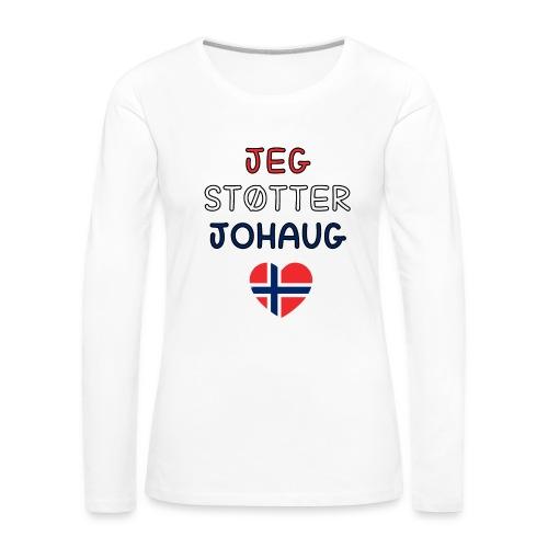 johaug - Premium langermet T-skjorte for kvinner