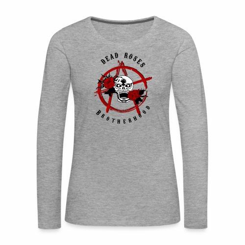 Dead Roses Anarchy Skull Black - Women's Premium Longsleeve Shirt