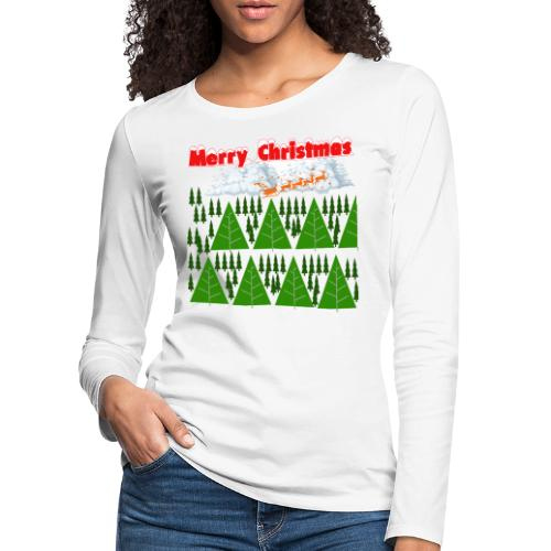 #natale, #christmas e amore per la famiglia - Maglietta Premium a manica lunga da donna