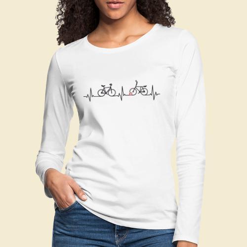 Heart Monitor Kunstrad & Radball - Frauen Premium Langarmshirt