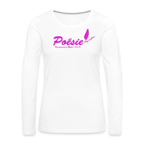 Poésie - T-shirt manches longues Premium Femme