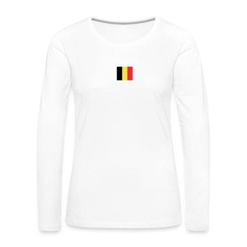 vlag be - Vrouwen Premium shirt met lange mouwen