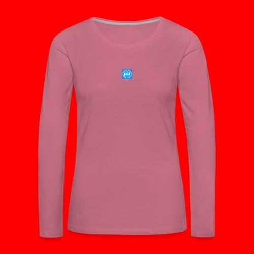 pd Blue V2 - Dame premium T-shirt med lange ærmer